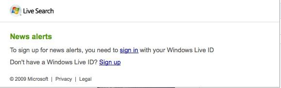 Windows Live News Alert